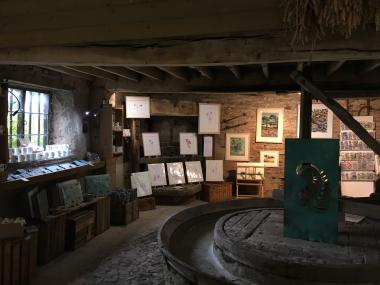 The h.Art exhibit is  displayed in the building which houses the Cider Press.