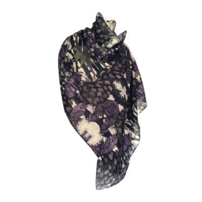 Cardoon - Silk/Wool Shawl.