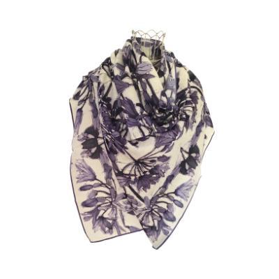 Agapanthus - Silk/Wool Shawl.