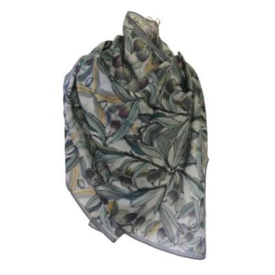 Olives - Silk/Wool Shawl.