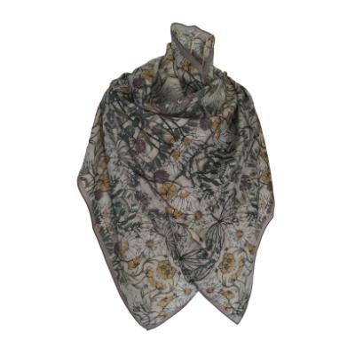 Wild Flowers - Silk/Wool Shawl.