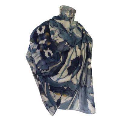Iris Reticulata - Silk/Wool Shawl.