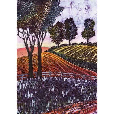 No.763 Ploughed Field - signed print.
