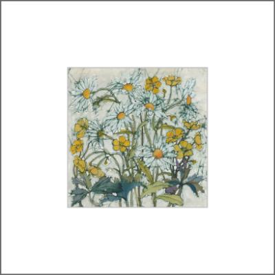 Daisies and Buttercups -  Original Batik Painting
